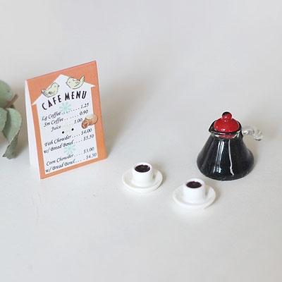 [콩지] 미니어쳐 커피포트 SET