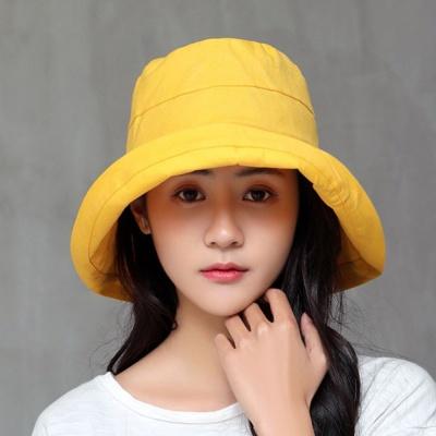 여름 버킷햇 옐로우 벙거지모자 모자 여름모자 챙모