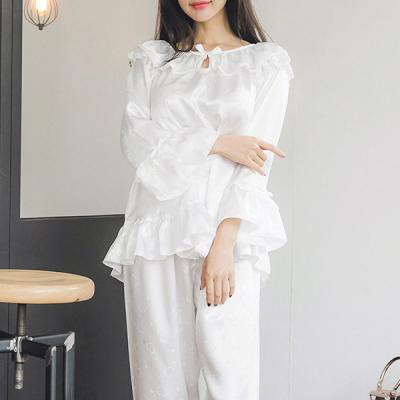 [쿠비카]하트 쟈카드 은사 새김 투피스 여성잠옷 W240