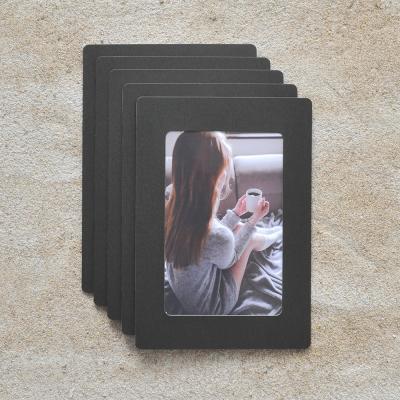 페이퍼프레임 프리미엄 우든 - 4x6 블랙 5매