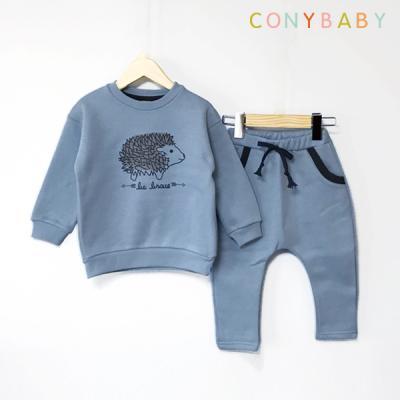 [CONY]고슴도치 블루 기모맨투맨 상하복세트