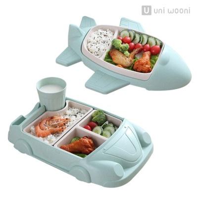 어니우니 유아 아기 식판 자동차 비행기 대나무섬유 W2F6011