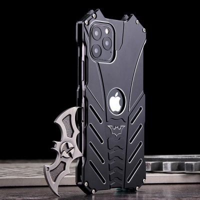 아이폰12 PRO MAX MINI 박쥐 캐릭터 메탈 범퍼 케이스