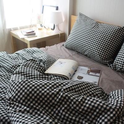 mono check bedding set(Q)