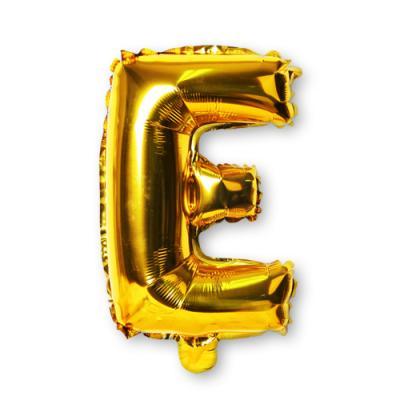 골드 알파벳 풍선-E (1개)