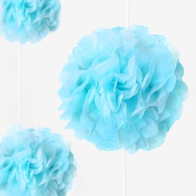 베이비 블루 꽃볼 가랜드 (1개)
