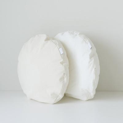 원형 방석 광목 아이보리 화이트 카페인테리어 2color