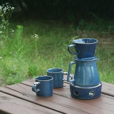 꽃머그 도자기 커피 드리퍼 4종 세트