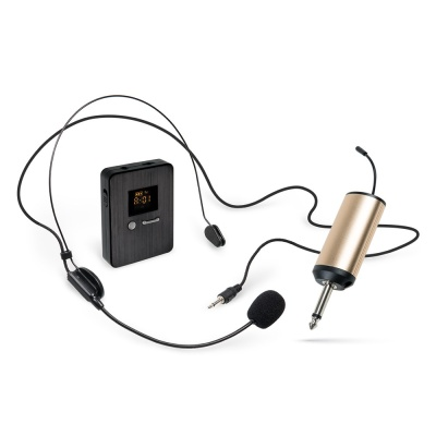 UHF 무선 핀 마이크 헤드셋 / 수신기 세트 LCCR400CR
