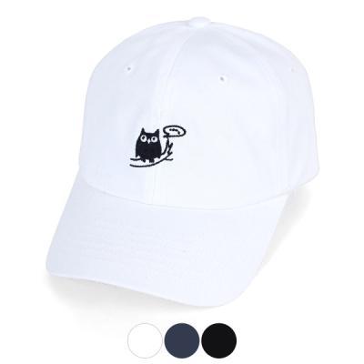 [디꾸보]말풍선 아울 코튼 볼캡 야구 모자 ACE875