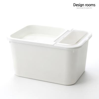 심플 오픈형 쌀통10kg(크림)/중