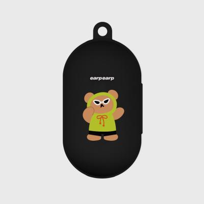 Smart sunglas bear-black(buds jelly case)