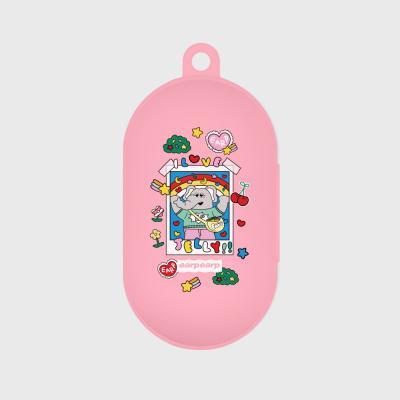 kkikki love jelly-pink(buds jelly case)