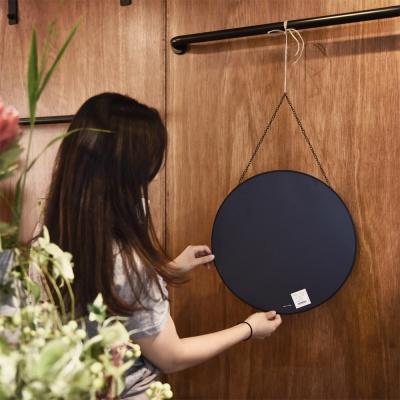 스트랩원형거울 블랙메탈 스트랩거울