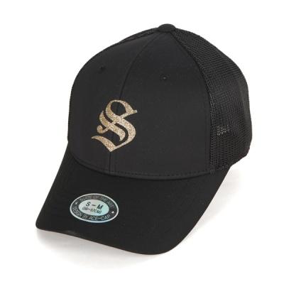 [디꾸보]글리터 로고 투 사이즈 메쉬 볼캡 모자 AC611