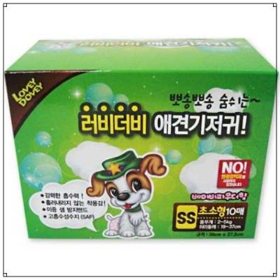 애견 관리용품 러비더비 애견 기저귀 10매 (SS)
