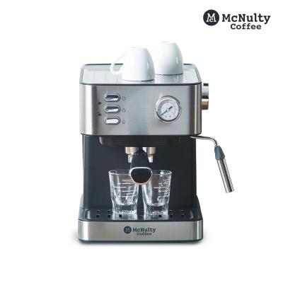 맥널티 에스프레소 반자동 커피머신 MCM6861S 실버