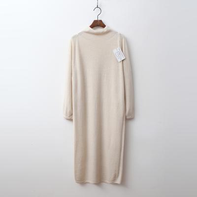 Laine Cashmere N Wool Grace Turtleneck Long Dress