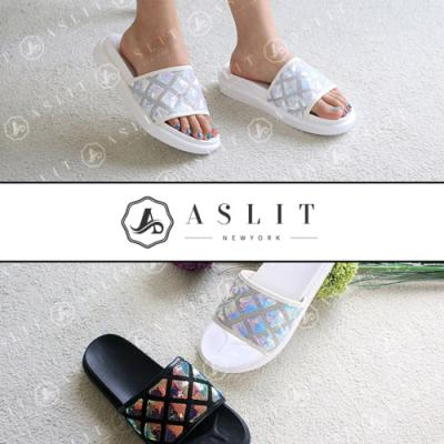 [애슬릿]스팽글 통굽 여름 뮬 슬리퍼 3.5cm