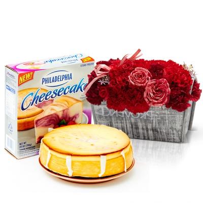 필라델피아 치즈케익 라즈베리 스월(794g)+프라린 카네이션