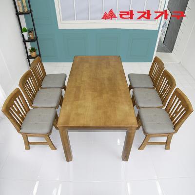 두라스 고무나무 원목 식탁세트 의자형 6인