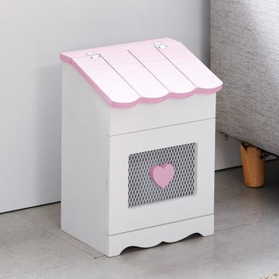 밀키 핑크 지붕수납장