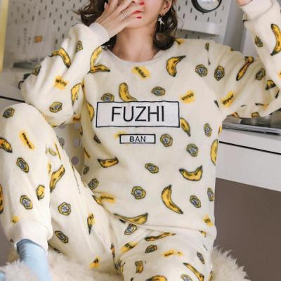 빠나나 수면잠옷 여성겨울 극세사 수면 바지 잠옷세트