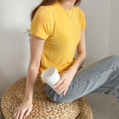 [애슬릿]국내 생산 기본 타이트 라운드 넥 티 셔츠