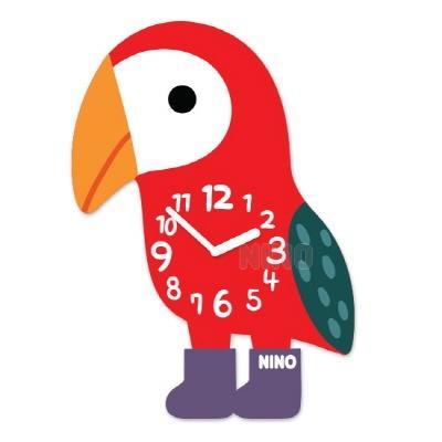 니노타임 아크릴 벽시계 앵무새 (소) NTMA-118