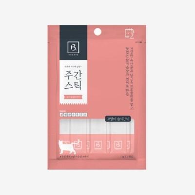 캣푸드 스틱 닭가슴살 연어 고양이간식 7P 츄르