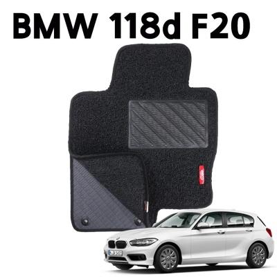 BMW 118d F20 이중 코일 차량 차 발 깔판 매트 black