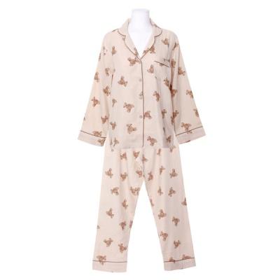 [쿠비카]데이베어 우드버튼 투피스 여성잠옷 W813