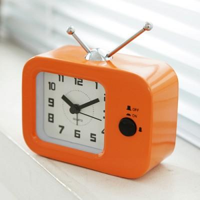 TV 칼라 탁상시계(오렌지)