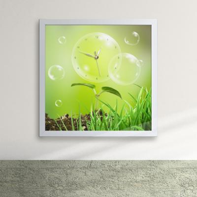 iw059-살아숨쉬는자연의싱그러움액자벽시계_디자인액자시계