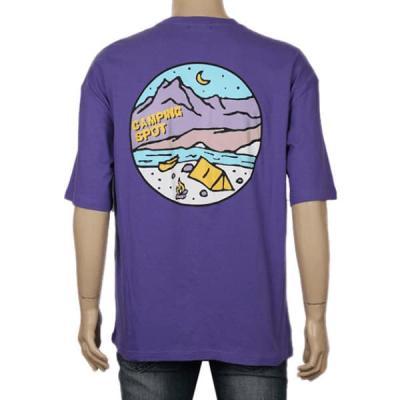 남성 여성 여름 데일리 반팔 티셔츠 캠핑 데이