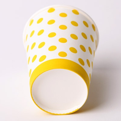 라인도트 비닐 테이블보 - 골드(1매)