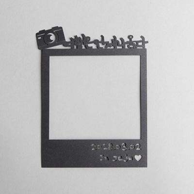 (주문제작) 페이퍼 폴라로이드 토퍼 - 카메라