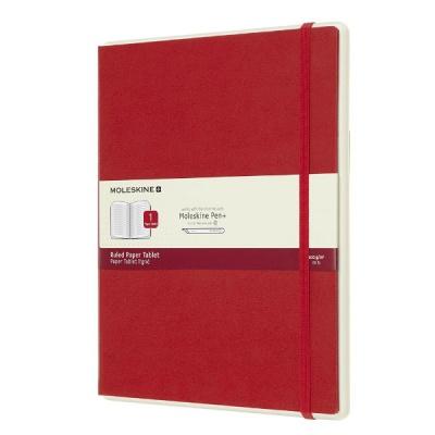 몰스킨 페이퍼 태블릿 룰드/레드 하드 XL