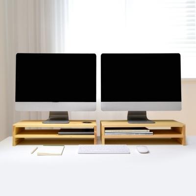 우드로하우스 소나무 원목 2단 컴퓨터 모니터받침대 HDM-804