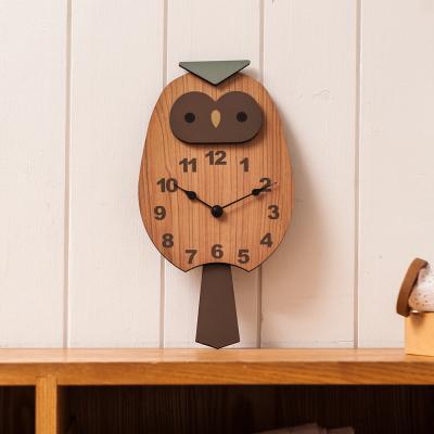 오리엔트 OTNL785 노글라스 부엉이 인테리어벽시계