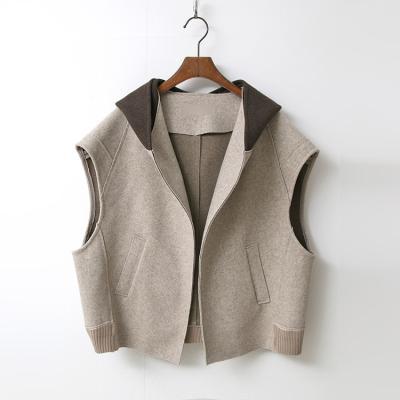 Wool Hooded Crop Vest