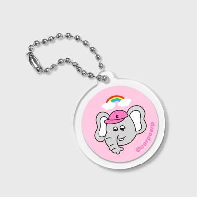 circle Rainbow kkikki-pink(키링)