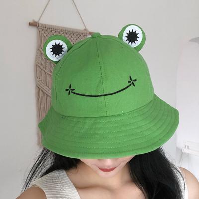 프로그 귀여운 개구리 벙거지 버킷햇 모자