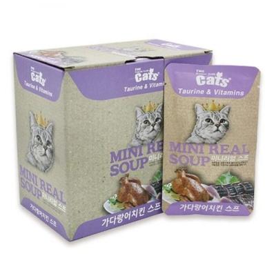 고양이 습식 파우치 리얼 가다랑어 치킨 스프 40g