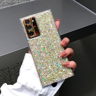 갤럭시노트10 플러스 반짝이 펄 사각 투명 젤리케이스