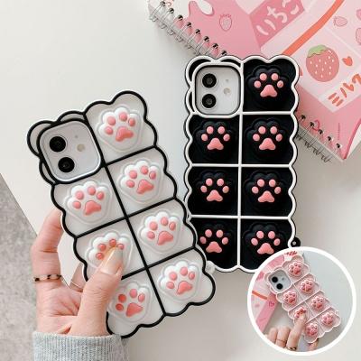 아이폰12 11 pro max xs 8 고양이 발바닥 팝잇 케이스