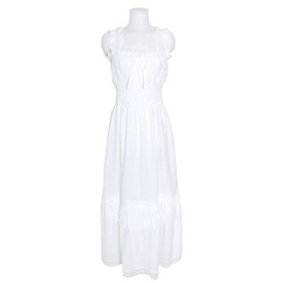 [쿠비카]민소매 스퀘어넥 순면 원피스 여성잠옷 W784