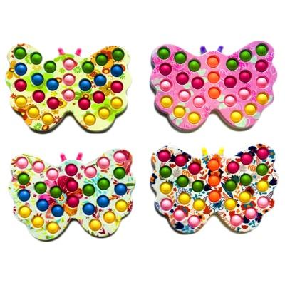 나비 모양 플레이트 피젯 팝잇 파스텔 푸시팝 파빗