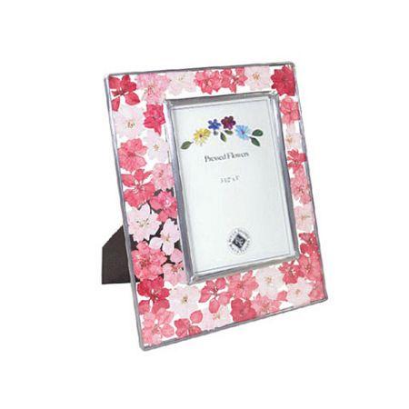Pink in memory (A-57-2) 압화 사진 액자