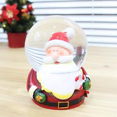 크리스마스 워터볼 스노우볼 6.5cm (산타얼굴)